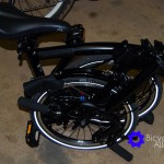 Brompton Fully Folded Except Left Peddle