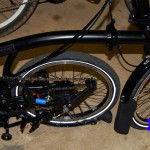 Rear Frame Triangle Folded Under Bicycle