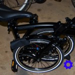 Rear Triangle Front Wheel And Seat Post Folded