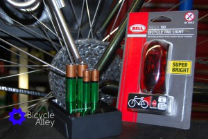 Bell Arella 100 Tail Light and Duracell Ion Speed 4000 Battery Charger.