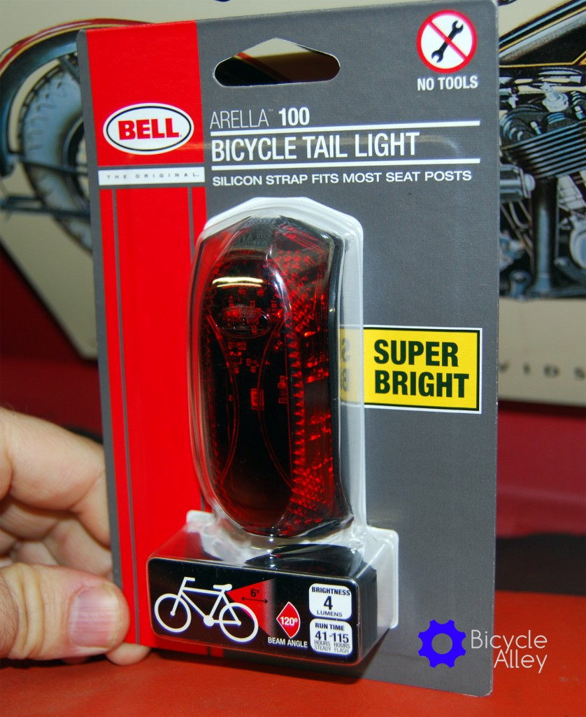 The front label for the Bell Arella 100 Tail Light.