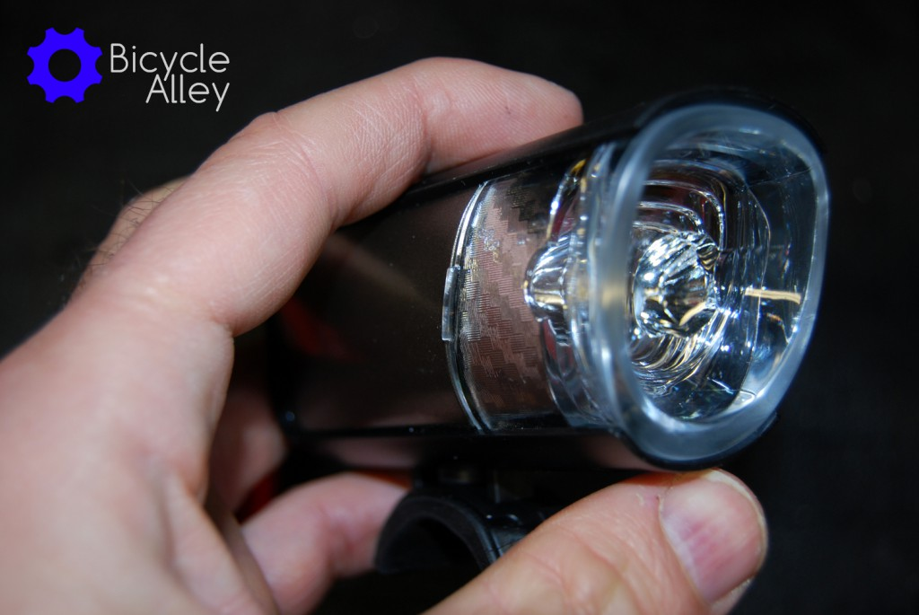 The Bell Lumina head light. You can see the rib on each side of the head light that helps you pull the light/lense out and reveals the battery compartment.