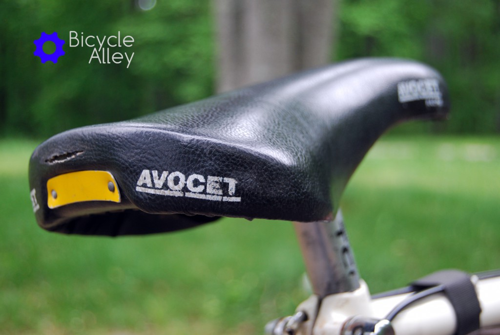 The original Avocet bicycle seat that came with the bicycle.