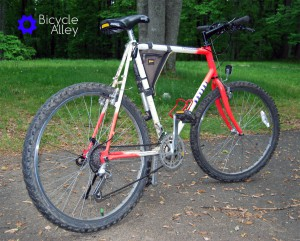 An older Classic REI Novara Ponderosa Mountain Bike